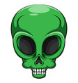 alien green head creature from another world vector image