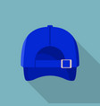 back of blue baseball cap icon flat style vector image vector image