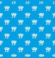 beaver pattern seamless blue vector image