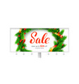 billboard for winter sale events up to 50 percent vector image vector image