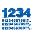 Blue numbers vector image vector image