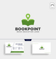 book pin marker or navigation map simple line vector image vector image