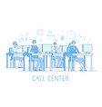 call center concept customer support service vector image vector image