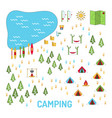 camping map set vector image vector image
