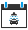 Car Shower Calendar Day Toolbar Icon vector image vector image
