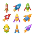 Cartoon rocket 3D set vector image vector image