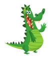 cartoon shy crocodile vector image vector image
