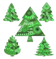Christmas trees green vector image