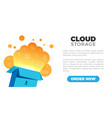 cloud storage landing vector image
