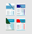 collection of creative business flyer vector image vector image
