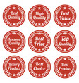 collection of red flat badges vector image