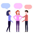conversation between three peoples vector image