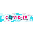 covid19-19 pandemic abstract background chinese vector image vector image
