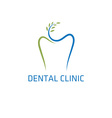 dental clinic design template vector image vector image