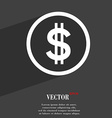 Dollar icon symbol Flat modern web design with vector image vector image