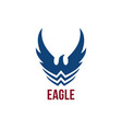 eagle symbol with wings and stylized waves vector image vector image