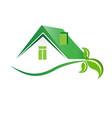 eco-friendly real estate houses vector image vector image
