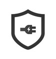 electric shield icon logo design element with vector image vector image