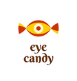 eye candy fun logo concept vector image