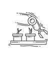 farming robotic icon hand drawn icon set outline vector image