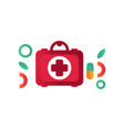 first aid kit medical help symbol vector image