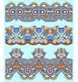 floral paisley stripe pattern border set vector image