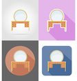 furniture flat icons 34 vector image