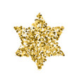 golden star banner simple form template card vip vector image vector image
