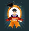 graduation student ribbon vector image