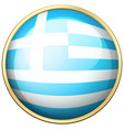 greece flag on round icon vector image vector image