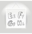Hand drawn alphabet font vector image