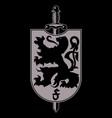 heraldic coat arms heraldic lion silhouette vector image