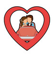 isolated newlywed couple car vector image