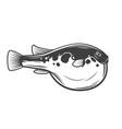isolated purrerfish japanese fugu fish vector image