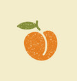 isolated stylized icon of a peach vector image