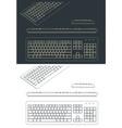 keyboard drawings vector image
