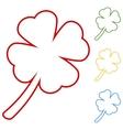 Leaf clover Saint patrick symbol vector image vector image