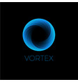 logo vortex blue o monogram vector image vector image