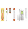 measuring tools electronic or mercury vector image
