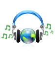 music headphone vector image vector image