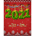 new year 2021 twigs as christmas decoration vector image vector image