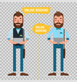 online booking man making online order character vector image vector image