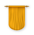 orange pennat flag advertising canvas vector image