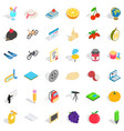 pencil icons set isometric style vector image vector image