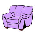 pink armchair icon cartoon vector image vector image