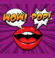 pop art comic vector image vector image