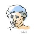 rembrandt portrait vector image