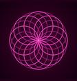sacred geometry symbol of harmony vector image vector image