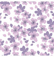 sakura cherry seamless pattern in pastel colors vector image vector image
