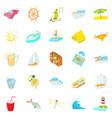 sea trip icons set cartoon style vector image vector image